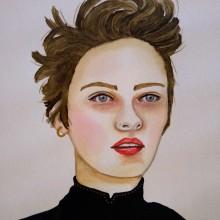 Mi Proyecto del curso: Retrato en acuarela a partir de una fotografía. A Illustration, Painting, Drawing, and Artistic drawing project by Ana Karina Moreno - 05.06.2021