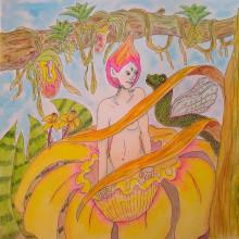 Mi Proyecto del curso: Animalario botánico: acuarela, tinta y grafito. A Illustration, Character Design, and Painting project by Ana Karina Moreno - 05.05.2021