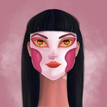 Digital Illustration with Procreate: Project The Masks. Un projet de Illustration, Dessin, Illustration numérique , et Dessin numérique de Luiza Grings - 07.05.2021