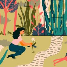 Flora. Um projeto de Ilustração de Gisele Murias - 09.05.2021