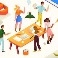 Le Matin Dimanche T.V Spot. Um projeto de Ilustração, Publicidade, Motion Graphics, Animação, Design de personagens, Vídeo, TV, Desenho digital, Desenho anatômico e Ilustração editorial de Catherine Pearson - 01.06.2020