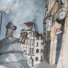 My project in Artistic Watercolor Sketching: Dare to Express Your Ideas course. Un proyecto de Ilustración, Bocetado, Creatividad, Dibujo, Pintura a la acuarela y Sketchbook de Didier Van Impe - 19.05.2021