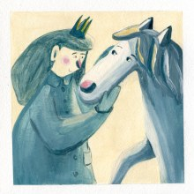 Little Princess Meets a Friend. My project in Narrative Illustration: Tell a Story without Words course. A Illustration, Zeichnung, Stor, telling, Kinderillustration, Erzählung und Gouachemalerei project by Živilė Kairytė - 18.05.2021