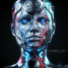Cyber X71 Model free 3d - Zbrush By Oscar Creativo. Um projeto de Design, Ilustração, Publicidade, Motion Graphics, Desenvolvimento de software, 3D, Animação, Design de personagens, Animação 3D, Ilustração digital, Modelagem 3D, Design de personagens 3D, 3D Design, Lettering 3D e Desenho digital de Oscar Creativo - 24.05.2021