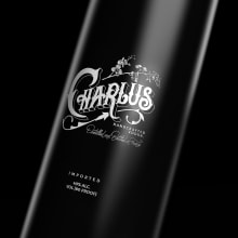 Charlus vodka. A Kunstleitung, Verpackung, T, pografie, Lettering und Logodesign project by Simón Londoño Sierra - 25.05.2021