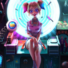 Harley Quinn. A 3D Character Design, and 3D project by Fer Aguilera Reyes - 05.25.2021