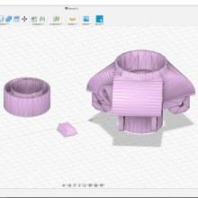 Mi Proyecto del curso: Introducción al diseño e impresión en 3D tripode de telescopio. A 3D, Industrial Design, Product Design, 3d modeling, and Design 3D project by Marco Miguel Rubio Amezquita - 05.16.2021