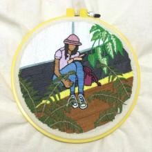 Mi Proyecto del curso: Introducción al bordado botánico. Un proyecto de Bordado e Ilustración textil de Veronika Black - 27.05.2021