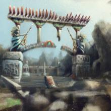 Ruinas de Tolonte. Un proyecto de Ilustración, Ilustración digital, Videojuegos, Concept Art y Diseño de videojuegos de Maximiliano Servin - 31.05.2021