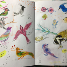 Mi Proyecto del curso: Técnicas de ilustración para desbloquear tu creatividad. Un proyecto de Diseño, Ilustración, Bellas Artes, Pintura, Creatividad, Creatividad con niños y Sketchbook de Arlette Cassot - 31.05.2021