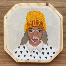 Pintando peles e bordando pessoas. A Zeichnung, Aquarellmalerei, Porträtillustration und Stickerei project by Mariah Escossia - 01.06.2021