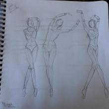 Meu projeto do curso: Desenho anatômico para principiantes. Un projet de Esquisse , Dessin au cra, on, Dessin , et Dessin anatomique de Mariana Amaral - 03.06.2021