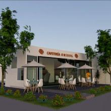 Cafetería Oniros. Un proyecto de Arquitectura de Carolina Bolaños Bau - 08.06.2021