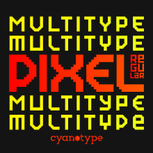 MultiType Pixel Regular (FREE FONT). A T, pograph, T, pograph, and design project by Damián Guerrero Cortés - 06.10.2021