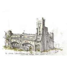 Recorriendo la ciudad (Bahía Blanca). Un proyecto de Ilustración, Bocetado e Ilustración arquitectónica de Martina Rocca - 11.06.2021