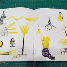Mi Proyecto del curso: Técnicas de ilustración para desbloquear tu creatividad. A Design, Illustration, Fine Art, Painting, Creativit, Creating with Kids, and Sketchbook project by Juan Mantilla - 06.13.2021