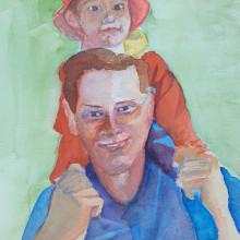 My project in Artistic Portrait with Watercolors course. Un proyecto de Bellas Artes, Pintura, Pintura a la acuarela, Ilustración de retrato y Dibujo de Retrato de Didier Van Impe - 13.06.2021
