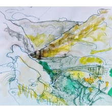 Paisajes de Peru. Un proyecto de Ilustración, Bocetado e Ilustración arquitectónica de Martina Rocca - 15.06.2021