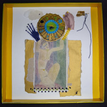 Mi Proyecto del curso: Técnicas de bordado experimental sobre papel. A Fine Art, Collage, Embroider, and Textile illustration project by Ana Karina Moreno - 06.17.2021