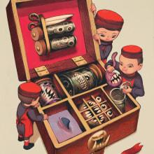 Editorial Collection 1. Um projeto de Ilustração, Desenho, Ilustração digital, Pintura digital, Ilustração com tinta e Ilustração editorial de Julie Benbassat - 21.06.2021