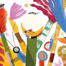 O Jardim da Lua. Um projeto de Ilustração, Colagem, Desenho, Ilustração infantil e Ilustração editorial de Ana Matsusaki - 22.06.2021