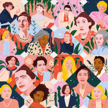 Mujeres en la literatura - Portada Lire Magazine Littéraire. A Illustration, Editorial Design, and Editorial Illustration project by Gisele Murias - 06.23.2021