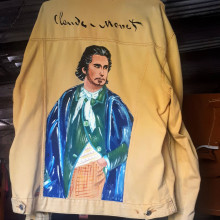 Pinturas Impressionistas em Jeans. Un proyecto de Moda e Ilustración textil de Leonardo Souza - 23.06.2021