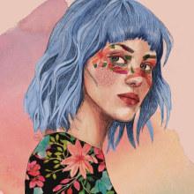 Mi Proyecto del curso: Retrato ilustrado con Procreate / Ready. A Illustration, Vector Illustration, Digital illustration, Portrait illustration, and Portrait Drawing project by Mariana Quinteros - 06.05.2021