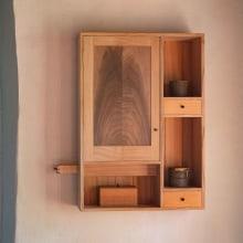 """Armario """"espacios"""". Un proyecto de Artesanía, Diseño de muebles, Diseño de interiores, Creatividad y Carpintería de Israel Martín - 28.06.2021"""