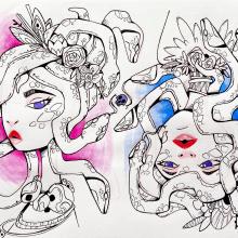 Mi Proyecto: 30 Días de Sketch. Um projeto de Design, Ilustração, Animação, Design de personagens, Esboçado, Criatividade, Desenho, Concept Art, Sketchbook e Ilustração com tinta de Max Vásquez - 28.06.2021