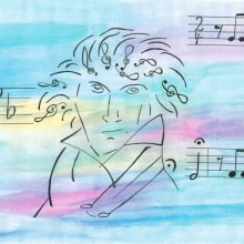 Ludwig van Beethoven. A Illustration project by Sylvia Haendschke - 07.02.2021