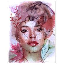 My project in Illustrated Portrait in Watercolor course. Un progetto di Illustrazione, Belle arti, Pittura, Disegno, Pittura ad acquerello, Illustrazione di ritratto, Disegno di ritratto , e Disegno artistico di Hala Hany Farid - 03.07.2021