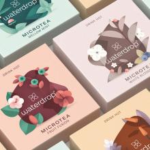 Microtea · Ilustraciones para marca de té.. Um projeto de Design, Ilustração, Br, ing e Identidade e Packaging de David Comerón - 05.07.2021