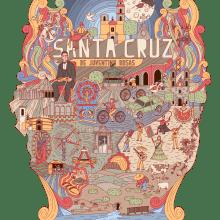 SANTA CRUZ [Original]. Un proyecto de Ilustración, Motion Graphics, Animación, Diseño de personajes, Moda, Animación 2D, Ilustración textil, Dibujo digital y Narrativa de Arturo Mauleón - 07.07.2021
