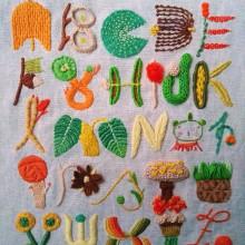 Mi Proyecto del curso: Introducción al bordado en relieve. Un proyecto de Bordado e Ilustración textil de Flavia - 07.07.2021