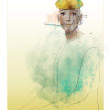 Aquarela digital mulher oceano. Un proyecto de Ilustración de Joselia Frasão - 14.07.2021