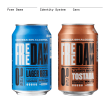 Free Damm. Sistema de Identidad. Packaging. A Design project by Mario Eskenazi - 17.07.2021