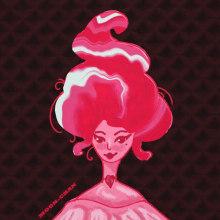 Ice Cream Lady. Un progetto di Design, Illustrazione, Motion Graphics, Character Design, Graphic Design, Pittura, Animazione di personaggi, Animazione 2D, Disegno, Illustrazione digitale, Disegno artistico, Umorismo grafico , e Disegno digitale di Menna Zekri - 18.07.2021