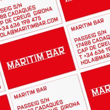 Maritim Bar (Cadaqués). Identidad. A Design project by Mario Eskenazi - 18.07.2021