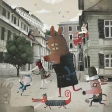 Mis Amigos Invisibles.. Um projeto de Ilustração, Design de personagens, Criatividade, Desenho, Concept Art, Desenho artístico, Ilustração infantil, Brush painting, Desenho digital, Pintura digital e Narrativa de Luis San Vicente - 18.07.2021