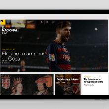 elnacional.cat: A new approach  to news in a resurgent Catalonia. A Design, Br, ing, Identit, and Web Design project by Mark Porter - 07.19.2021