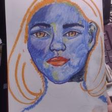 Blue immersion. Un proyecto de Ilustración, Pintura, Dibujo, Fotografía con móviles, Ilustración de retrato, Dibujo de Retrato, Dibujo artístico y Teoría del color de Jordana Borchartt Quevedo - 12.07.2021