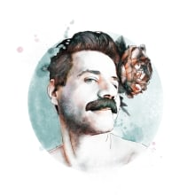 Meu projeto do curso 2: Retrato ilustrado com o Photoshop. Un proyecto de Diseño e Ilustración de Joselia Frasão - 18.07.2021