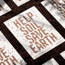 Help Soil Save Earth. A Design, Kunstleitung, Br, ing und Identität, Grafikdesign und 3-D-Design project by Nathan Smith - 17.07.2021