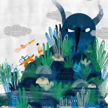 """Momotaro"": Brazilian Adaptation. A Design, Illustration, Collage, Digitale Illustration, Kinderillustration und Digitales Design project by amy.maitland - 18.07.2020"