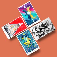 Tarot. A Illustration, Malerei, Kreativität, Malerei mit Acr und l project by Adolfo Serra - 21.07.2020