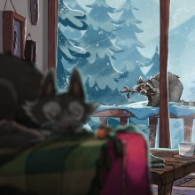 Christmas Animated Scene. A Animation & Illustration project by Izzy Burton - 07.25.2021