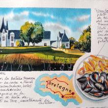 Mi Proyecto del curso: Cuaderno de viaje en acuarela. Un progetto di Illustrazione, Pittura ad acquerello, Illustrazione architettonica , e Sketchbook di Mercedes Campo Andreu - 26.07.2021