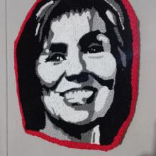Mi Proyecto del curso:  Bordado con punch needle: pasa de la imagen al retrato. Um projeto de Ilustração de retrato, Bordado e Ilustração têxtil de Roxana Andrea Román Cáceres - 10.07.2021