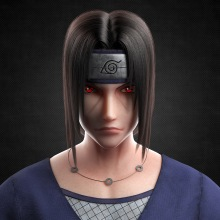 Itachi Uchiha (うちはイタチ). Um projeto de 3D, Rigging, Animação 3D, Modelagem 3D e Design de personagens 3D de Maite Gómez García - 24.01.2021
